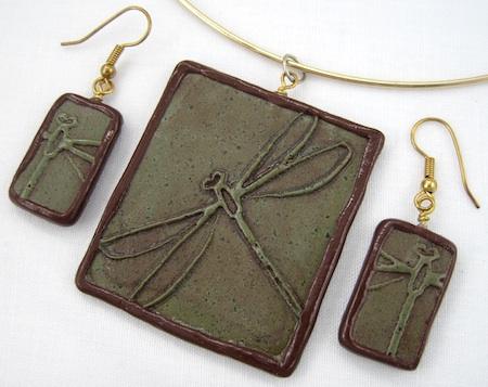 Dragonfly jewelry set
