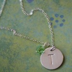 Hand Stamped Initial Necklaces