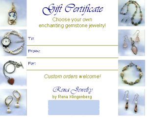 Selling Gift Certificates for Your Jewelry