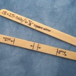 Popsicle Sticks Marked for Making Border-Wrap Wire Pendants