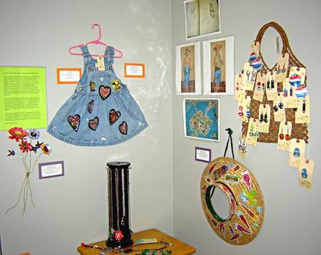 Mary Anne Enriquez's Trashion Fashion booth