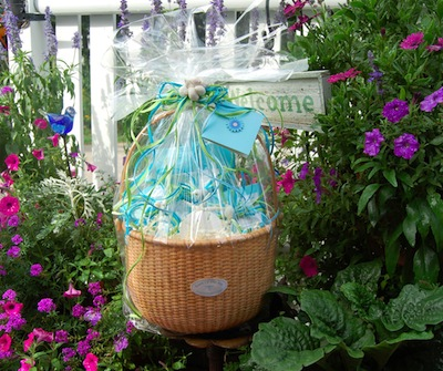 Ocean Themed Basket For Sea Glass Jewelry / Beach Stone Jewelry