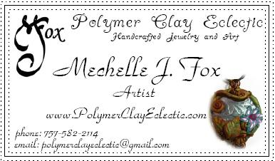 Polymer Clay Eclectic's new business card
