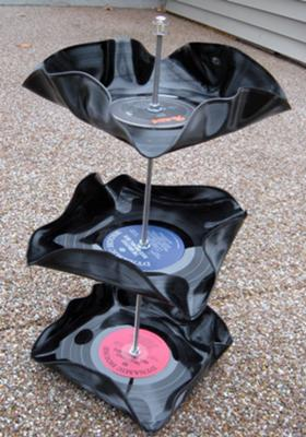 Recycled Vinyl Record Earring Display Jewelry Making Journal