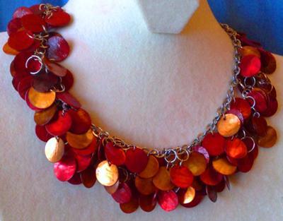 Reddish Leaves Necklace - Beril