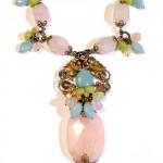 Rose Quartz & Multi-Gemstone Chunky Boho Necklace