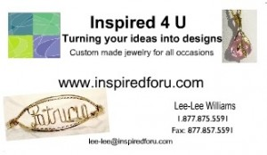 Trial Inspired 4 U Jewelry Business Cards
