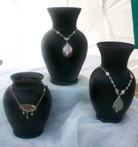 Using Vases as Necklace Displays