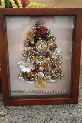 Vintage Estate Jewelry Shadowbox
