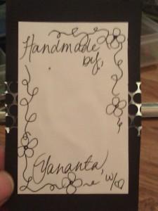 My Handmade Jewelry Cards