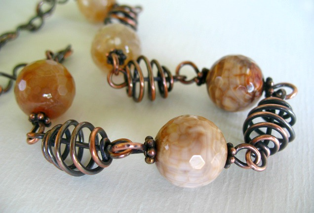 Copper Coil Necklace