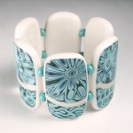 Tropical Turquoise Bracelet: Mokume Gane