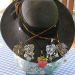 Straw Hat Necklace Display