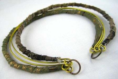 Fabric Wrapped Choker Necklace Tutorial