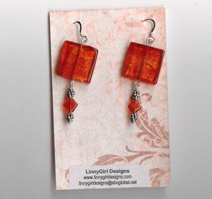 Handmade Cardstock Earring Cards