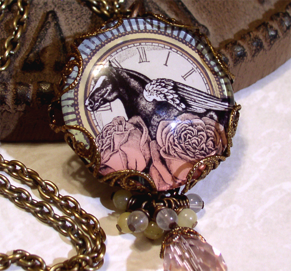 Handmade Vintage-Style Picture Necklace
