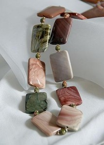 Imperial Jasper Necklace Display
