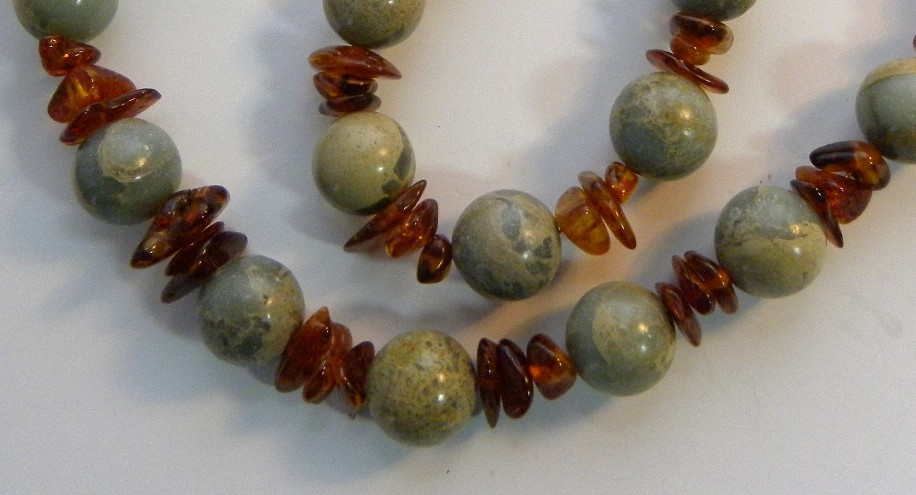 Casual Necklace of Impression Jasper