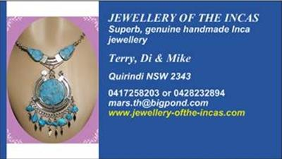 Jewellery of the Incas Business Card