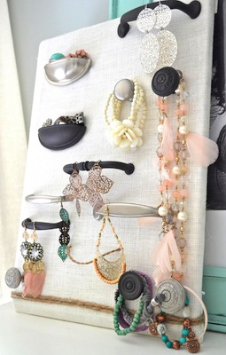 Jewelry Organizer with Cabinet Hardware