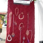 Knitted Shawl to Display Knitted Jewelry