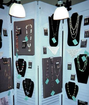Louvered Door Jewelry Display