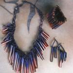 Bamboo Grass Tubes Jewellery Set