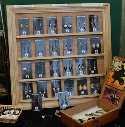 Handmade Picture Frame Earring Display