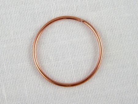 Copper jump ring for the center of the wrap bracelet