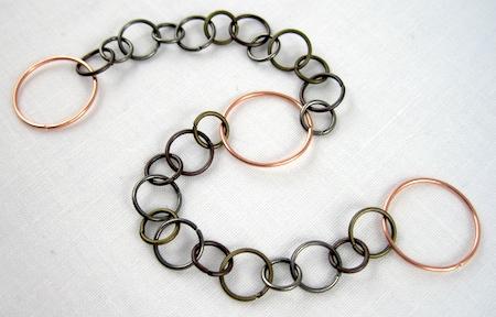Tutorial de brazalete de envoltura de metal mixto