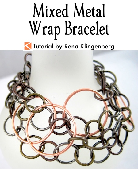 Mixed Metal Wrap Bracelet Tutorial by Rena Klingenberg