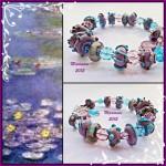 Lampwork Bracelets Inspired by Claude Monet