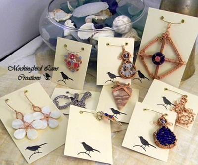 More Grommeted Jewelry Card Ideas…