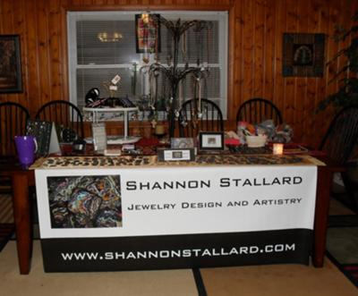 My Table Set Up at My House Shows — Jewelry Making Journal