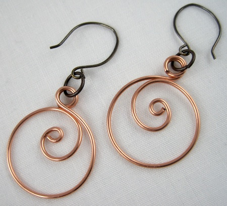 Zen Spiral Hoop Earrings Tutorial