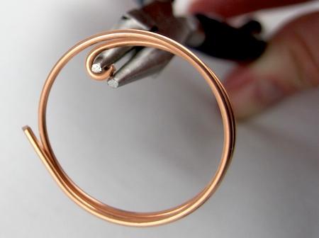 Zen Spiral Hoop Earrings Tutorial Starting The