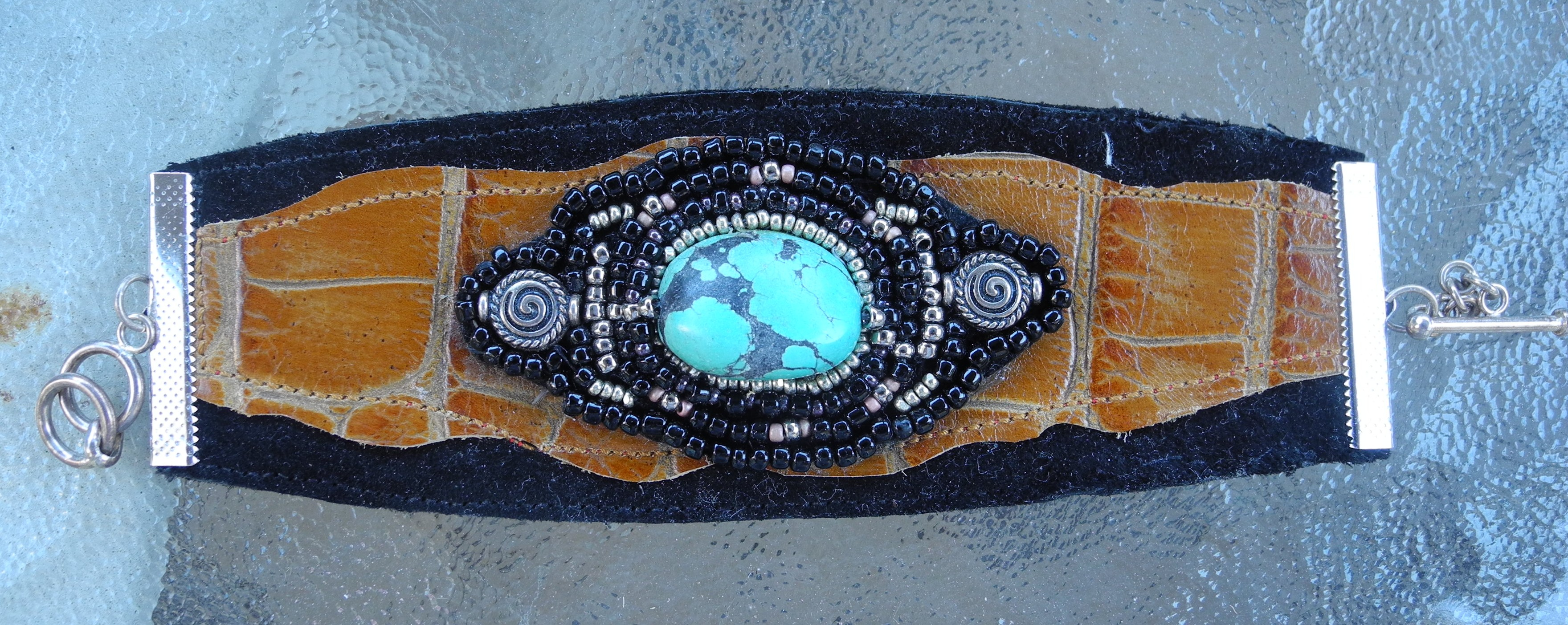 Turquoise and Leather