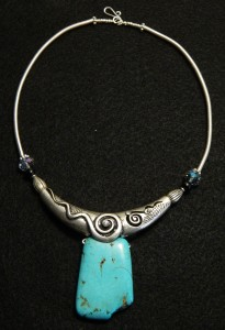 Coiling Gizmo Turquoise Choker
