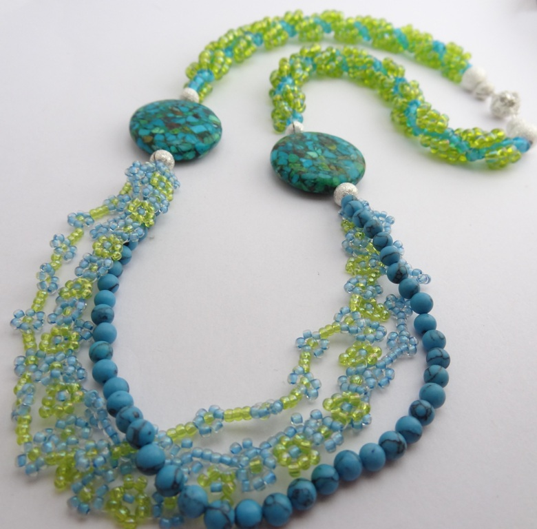 Colors of Spring Seed Bead Necklace