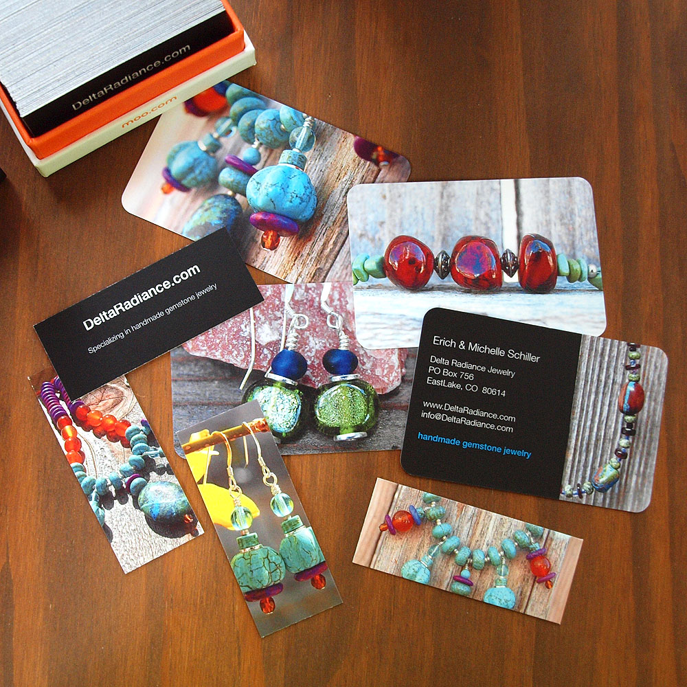 New Jewelry Business Cards Using Moo Print