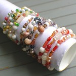 Easy Bracelet Display From a Mailing Tube
