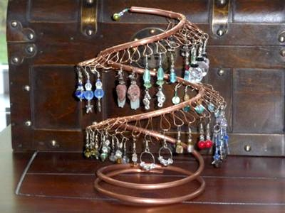 Copper Pipe Earring Tree