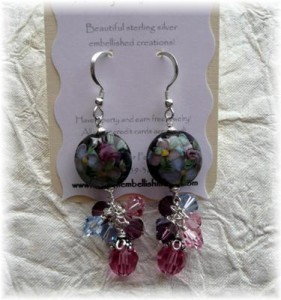 Custom Embellishments Jewelry Earring Cards