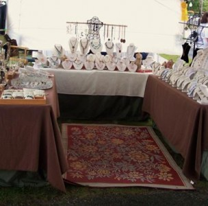 Donna c designs craft fair booth jewelry making journal for Craft show booth design ideas