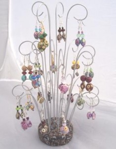 Earring Display with Polymer Clay and Wire