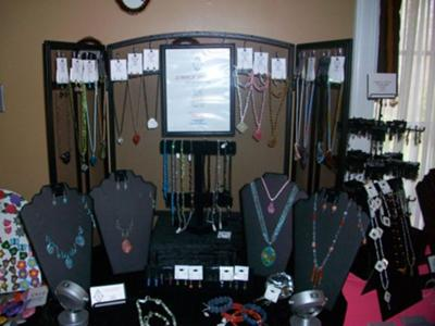 Fireplace Screen Jewelry Display