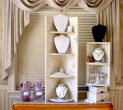 folding jewelry display shelf jewelry making journal rh jewelrymakingjournal com wooden jewelry display shelves jewelry display case shelves