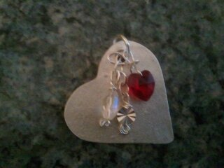 Handmade PMC & Silver Art Clay Heart Pendant