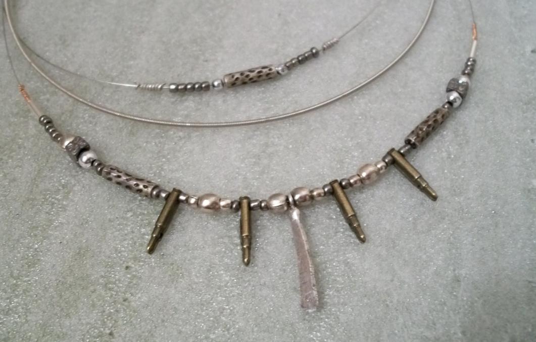 sling guitar string necklaces jewelry making journal. Black Bedroom Furniture Sets. Home Design Ideas