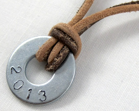 Easy graduation year necklace by Rena Klingenberg